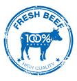 Beef stamp vector image