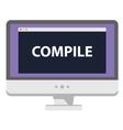 computer screen showing vector image