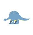cute cartoon dinosaur prehistoric and jurassic vector image