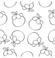 Fruit style pattern hand draw vector image