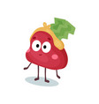 funny confused purse humanized character money vector image