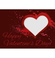 Hand-drawn watercolour Valentine day card vector image