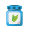 jar pills heartly vector image