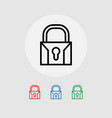 lock icons system security vector image