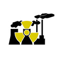 Nuclear station and radioactive sign vector image
