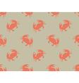 Seamless crab pattern vector image