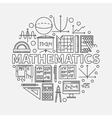 Mathematics round vector image