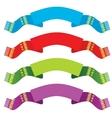 Bright ribbons set vector image vector image