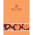 Thanksgiving pumpkins vertical torn seamless vector image vector image