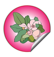 spring flower sticker vector image vector image