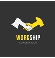 Work and Friendship Abstract Symbol Icon or Logo vector image