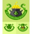 Emblems for saint patricks day vector image vector image