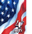 4th july flag vector image