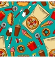 Fast food retro seamless pattern vector image