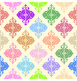 Colorful ornamental seamless background vector image