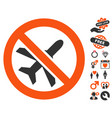 forbidden ariplanes icon with dating bonus vector image