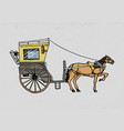 horse-drawn carriage or coach travel vector image