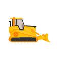 isolated bulldozer icon flat cartoon style vector image