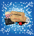 movie icon set on blue background vector image