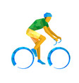 road cycling cyclist on bicycle vector image