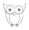 sketch blurred silhouette image owl bird vector image