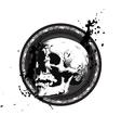 Sketchy Skull Emblem vector image