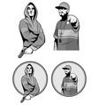 two gangster rapper vector image