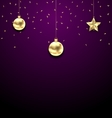 Christmas Golden Balls Copy Space for Your Text vector image vector image