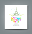 Cover new annual report colorful Eiffel tower vector image vector image