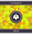 Halloween Triangles Background vector image vector image