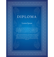 Decorative frame for diplomas certificates congrat vector image