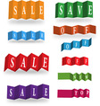abstract sale cards vector image vector image