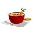 hot vegetable soup vector image
