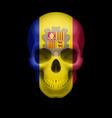 Andorran flag skull vector image
