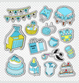 baby shower boy decoration elements vector image