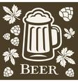 Beer design elements vector image