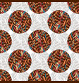 doodle seamless pattern in ethnic colors textile vector image