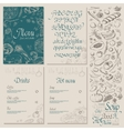 Restaurant Food Menu set Vintage Design with vector image