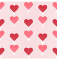Seamless pattern with sweet hearts vector image