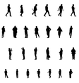 Set of People Children Adults Seniors vector image