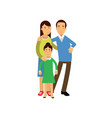 young parents standing with their daughter happy vector image