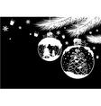 Christmas ball design on black background vector image