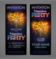independence day party poster with holiday vector image vector image