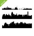 Bangkok landmark and skyline silhouettes vector image vector image