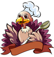The turkey cook vector image
