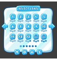 Level selection game menu ice style vector image