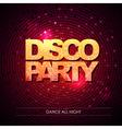 Typography Disco background Disco party vector image