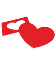 red paper heart vector image vector image