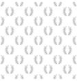 Laurel wreath pattern seamless vector image