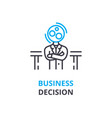 business decision concept outline icon linear vector image